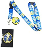 xbox pants - Fallout Reversible Breakaway Keychain Lanyard with ID Holder, Vault Boy Rubber Charm and Collectible Sticker
