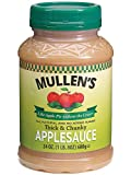 Mullen's Applesauce ''Like Apple Pie without the Crust'' | Chicago's Finest All-Natural No Sugar Added Applesauce Recipe, Thick and Chunky, 24 oz Jars (Case of 12 jars)