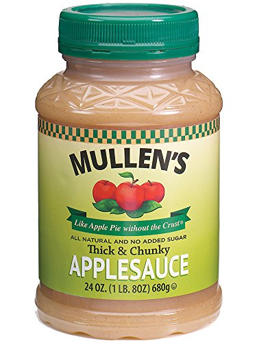 Mullen's Applesauce ''Like Apple Pie without the Crust'' | Chicago's Finest All-Natural No Sugar Added Applesauce Recipe, Thick and Chunky, 24 oz Jars (Case of 12 jars) by Mullen Foods