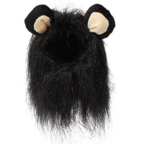 Black Lion Mane Wig Lion Pet Wig S Pet Dog Cat Artificial Lion Mane Wig Costume Black (Pet Lion Mane Wig)