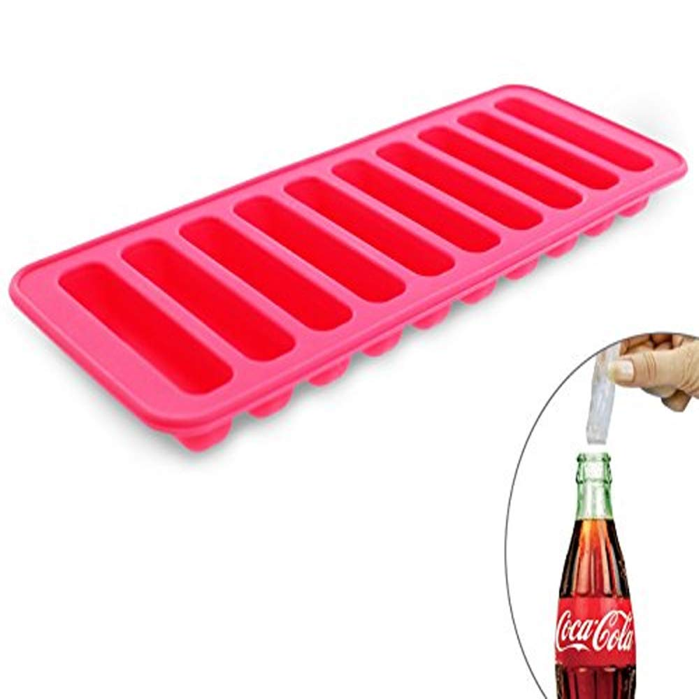 Elbee Home Silicone Ice Stick Mold Tray Fits into Soda Bottles Makes 10 Easy Release Ice Cube Sticks EBH-633