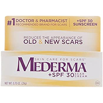 Mederma Scar Cream Plus SPF 30 - Reduces the Appearance of Old & New Scars While Helping Prevent Sunburn - # 1 Doctor & Pharmacist Recommended Brand for Scars - 20 Grams