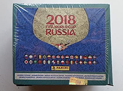 Panini Stickers 2018 Russia World cup international BOX of 104 packs + Free  international album (5 Stickers each pack total of 520)