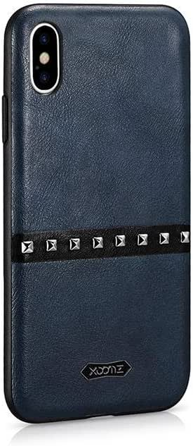 كفر ايفون اكس اس  قولد رفيتز جلد ازرق  من شركة اكسومز