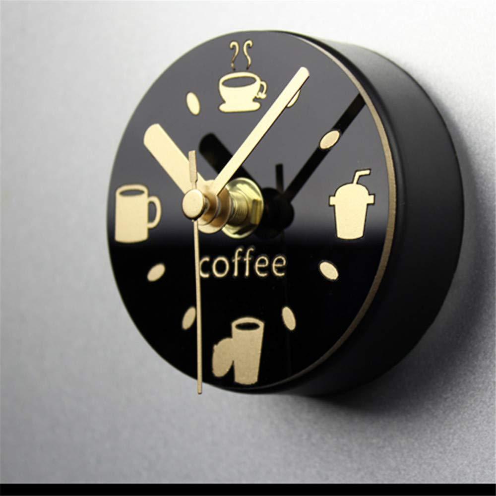 Acquisto gjdm Orologio da Parete Frigorifero Design Moderno Decorativo Cucina Caffettiera Mini Frigorifero Guarda L'Aspirazione Creativa del Magnete per Ogni Stanza della Casa Prezzi offerta