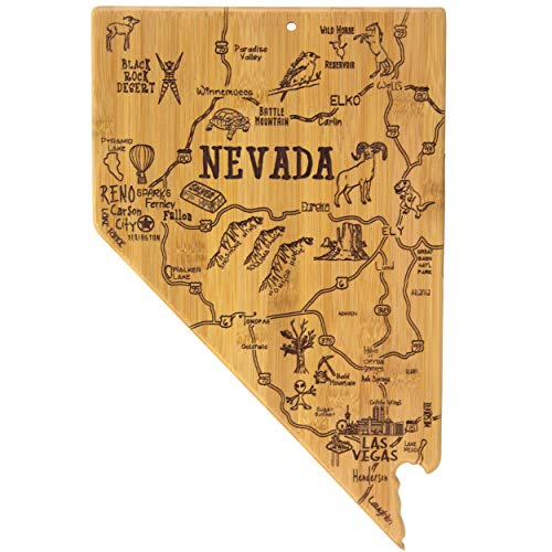 (Totally Bamboo Nevada State Destination Bamboo Serving and Cutting Board )