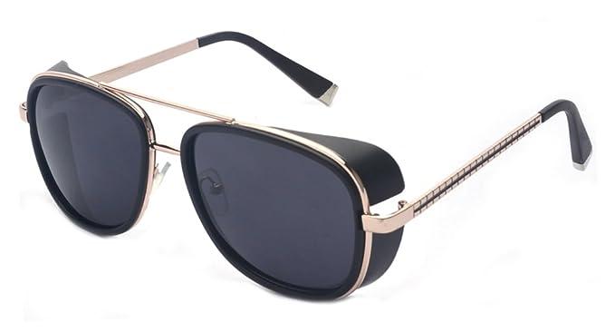 6d7c46e7763 Amazon.com  Outray Unisex Cover Side Shield Square Sunglasses A15 ...