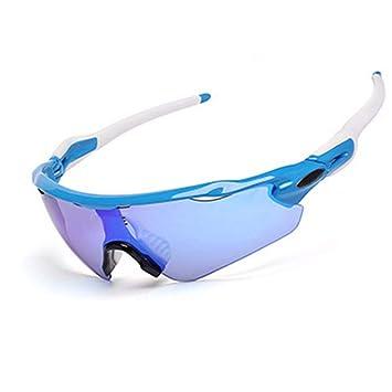 FRFG Gafas Deportivas de Media Montura Gafas polarizadas para Montar Gafas al Aire Libre a Prueba