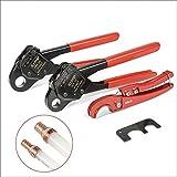 "IWISS F1807 PEX Crimping Tool 1/2""&3/4""&1"" Copper Ring Crimper Piler with FREE Cutter&GO NO GO Gauge"