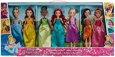 Amazon.es: Hasbro Disney Princess 7 Princesas Disney Estilos ...