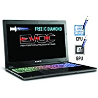 HIDevolution EVOC High Performance Systems P950HP6-HID8 w/ FREE IC Diamond on CPU+GPU – Optimal System Temperatures 15.6 FHD Ultra Slim Gaming Laptop (PCIe 512G SSD+1T HDD/32G RAM/i7-7700HQ/1060)