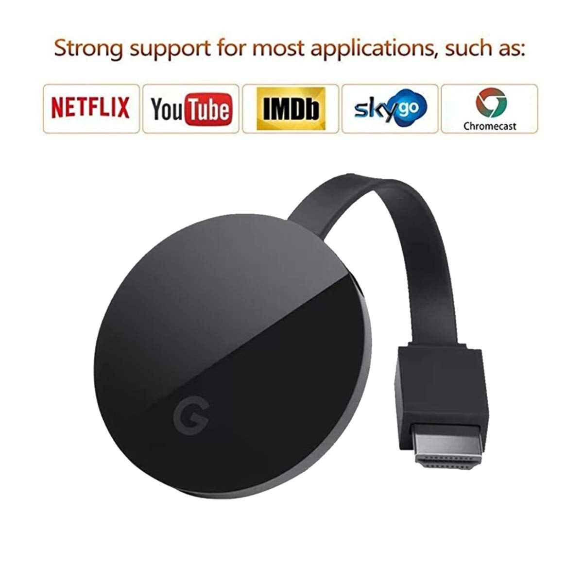 PHADEN Miracast Wireless Display Receiver 1080P HDMI WiFi Media Streamer Adapter Support Chromecast YouTube Netflix Hulu Plus Airplay DLNA TV Stick for Android/Mac/iOS/Windows