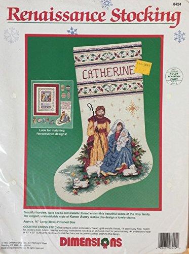 Dimensions Renaissance Stocking Nativity Counted Cross Stitch Kit 8424