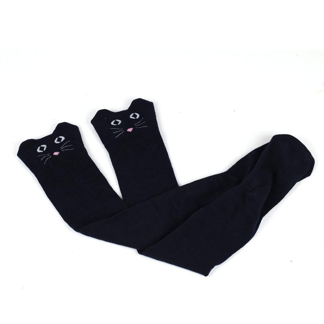 Sunfei Autumn Winter Girls Women Cat Catoon Socks Long Socks Over Knee High Sock