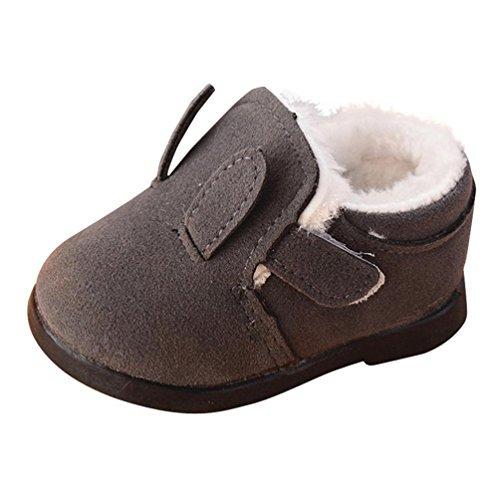 JIANGFU Kinder süße Hasenohren warme Baumwollschuhe,Kleinkind Kinder Jungen Mädchen Martin Sneaker Winter Dicke Schnee Baby Freizeitschuhe GY