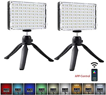 2-Pack GVM RGB Dimmable LED Camera Light
