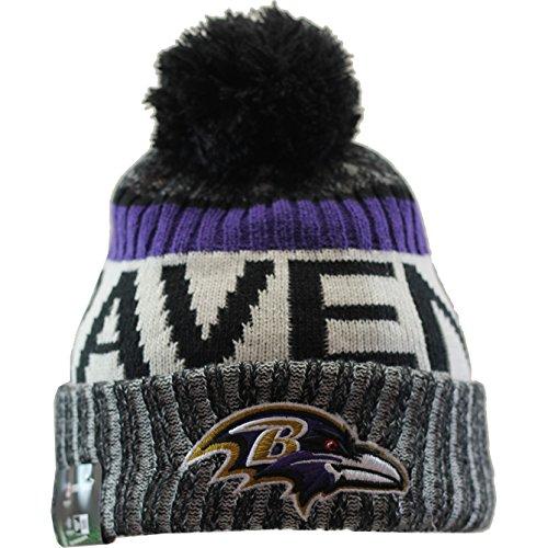 New Era Men's Men's Ravens 2017 Sideline Official Sport Knit Hat Black Size One Size (New Era Beanie)