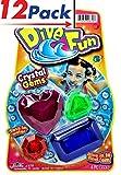 Diving Gems (Pack of 12) by JA-RU   Swimming Pool Dive Toys   Item #879-12
