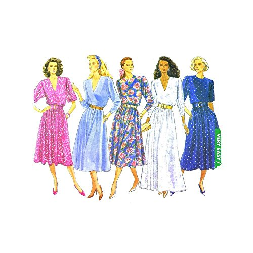 Hip Stitched Pleated Skirt (Butterick 3447 Sewing Pattern Misses Pullover Evening Dress Size 8 - 10 - 12)