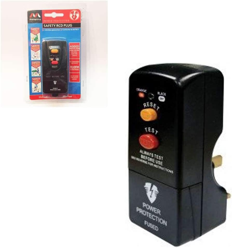 Masterplug PRCDKB-MP Safety Non Latching 13A RCD Plug top protection