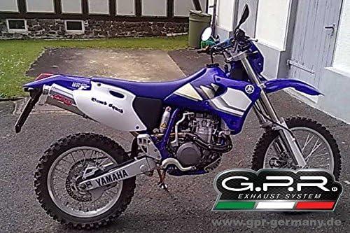 GPR Auspuff f/ür Yamaha WR 426/F 2000//02/Terminal zugelassen mit Verbindungsst/ück Serie der EVO Titanium