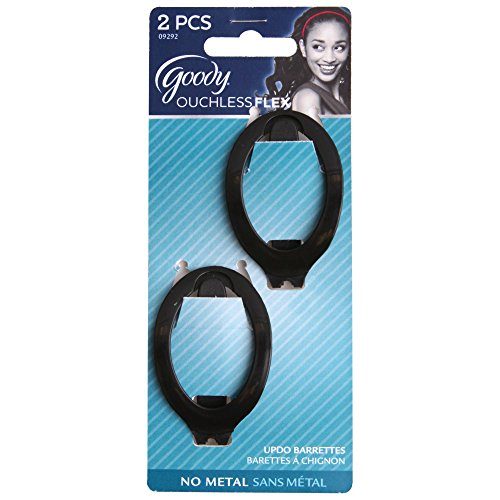 Goody Small Updo Barrettes Color May Vary - 2 Packs (2 Pieces per Pack)