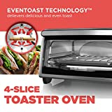 BLACK+DECKER 4-Slice Toaster Oven, Stainless Steel, TO1303SB