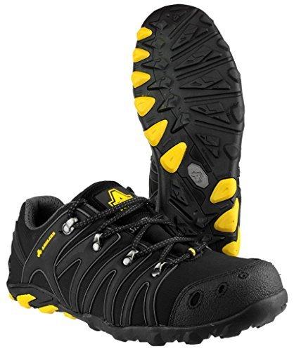 13 FS23 Black Steel Steel Soft Shoes Mens Unisex by UK Amblers Amblers Shell Trainer Womens EzqwZUBx
