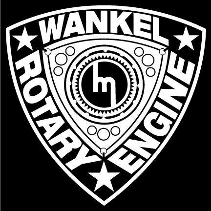 Wankel Rotary Engine Decal - White