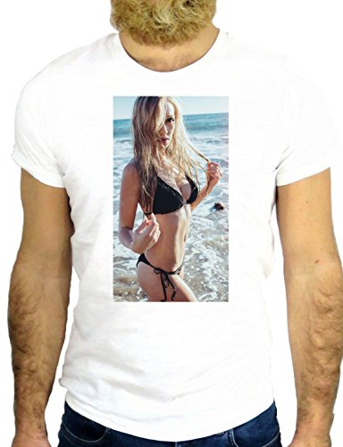T SHIRT JODE Z2071 GIRL SEA SEXY BIKINI SUMMER FUNNY COOL FASHION NICE GGG24 BIANCA - WHITE L