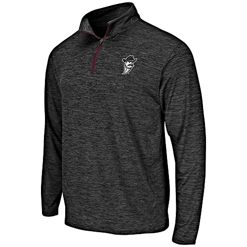 Colosseum Mens New Mexico State Aggies Quarter Zip Windbreaker Shirt - XL