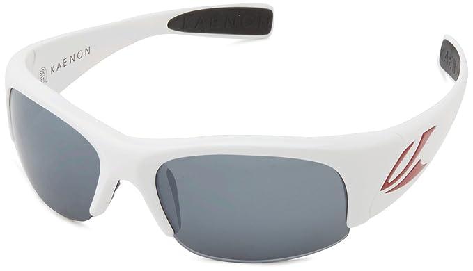 1ddd4d0ec2d94 Kaenon Hard Kore Sunglasses 007-11-G12-02 All Star White Frame Grey Polar  Lens  Amazon.co.uk  Clothing