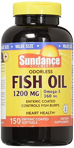 Sundance Omega-3 Odorless Fish Oil 1200 Enteric Coated, 150 (Enteric Coated Drugs)