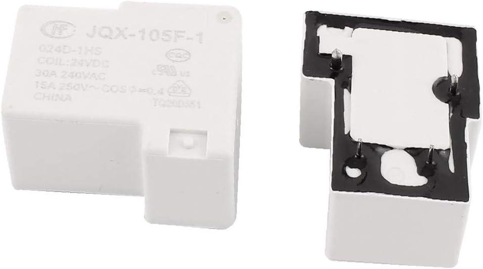 X-DREE 5 Pcs 24VDC 250VAC 15A 4 Terminal SPST NO JQX-105F-1//024D-1HS Power Relay 4da03d09-a222-11e9-8d7c-4cedfbbbda4e