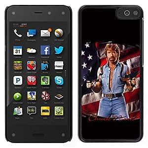 LECELL--Funda protectora / Cubierta / Piel For Amazon Fire Phone -- Hombre Tough Usa la bandera de América de la Serie del arma --