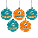 Miami Dolphins 2016 5 Pack Shatterproof Ball Ornament Set