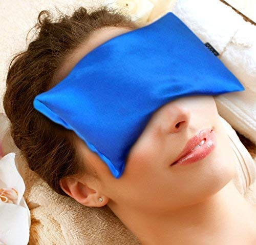 Ice Seeds - Karmick Hot Cold Eye Mask, Blue, Lavender and Flax Seed Filled