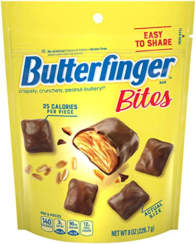 Butterfinger Candy Bars, Bite-sized, 8 oz Bag