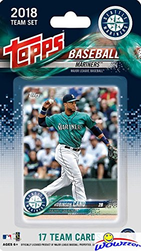 Seattle Mariners 2018 Topps Baseball EXCLUSIVE Special Limited Edition 17 Card Complete Team Set with Robinson Cano, Taylor Motter & Many More Stars & Rookies! Shipped in Bubble Mailer! WOWZZER! (Team Card Topps)