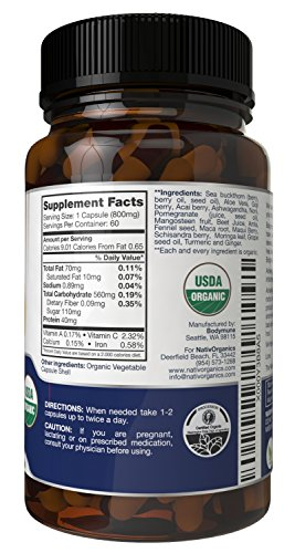 Pain Relief Supplement – USDA Organic Certified 60 Vegan Capsules – Organic Fever Reducer And Pain Reliever – Natural Pain Relief – Natural Fever Reducer – Headache Relief – AcheAngel