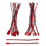 Allytech 10 Pairs JST Male Female Connector 150mm 22AWG Wire for RC Planes Cars Li-Po Battery