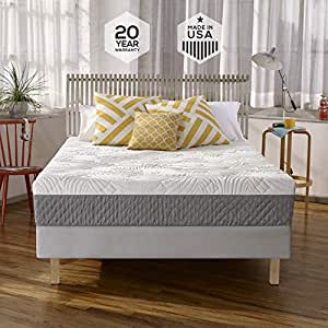 Sleep Innovations Shea 10-inch Memory Foam Mattress with Quilted Cover, Made in the USA with a 20-Year Warranty - Twin Size