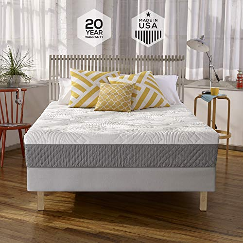 Sleep Innovations Shea 10-inch Memory Foam Mattress with Quilted Cover, Made in the USA with a 20-Year Warranty - Full Size
