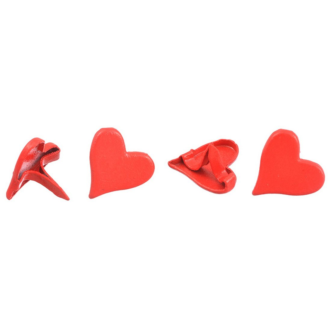 Loweryeah Red Heart Mini Brads DIY Scrapbooking Embellishment Pack 50pcs