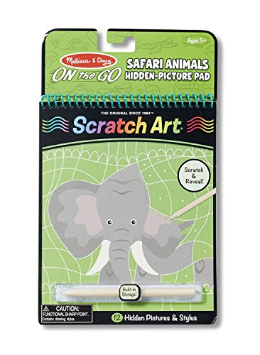 Melissa & Doug On the Go Scratch Art Hidden-Picture Pad - Safari Animals