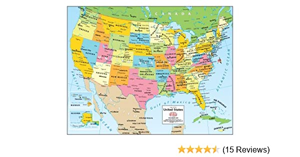 Modern Us Map.Map Of The United States Gloss Laminated Small Phoenix Mapping