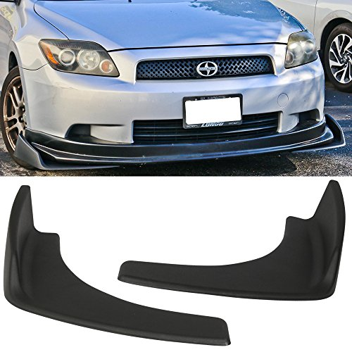 Front Bumper Lip Fits Universal Vehicles | Black PP Front Lip Finisher Under Chin Spoiler Add On by IKON MOTORSPORTS