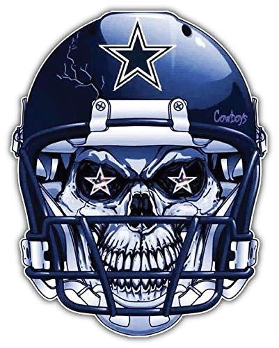 Dallas Cowboys NFL Skull Helmet Car Bumper Sticker Decal 4'' X 5''