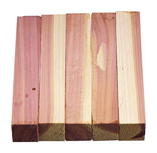 North American Red Cedar Wood Turning Pen Blanks | Wood Pen Blanks 5 Pack | 3/4