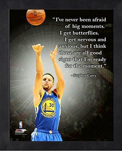 Stephen Curry Golden State Warriors NBA ProQuotes Photo (Size: 9'' x 11'') Framed